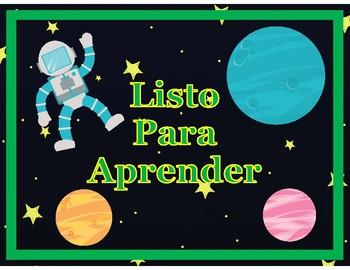 Outer Space Themed Behavior Chart in Spanish