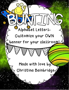 Outer Space Themed Buntings- Customize Your Own Banner!