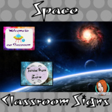 Outer Space Themed Classroom Signs