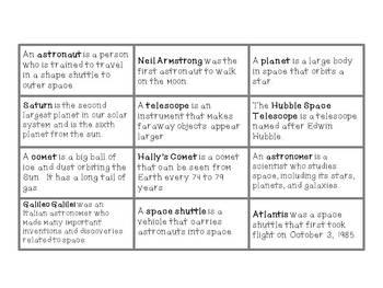 Outer Space Themed Common and Proper Nouns Sorting Activity