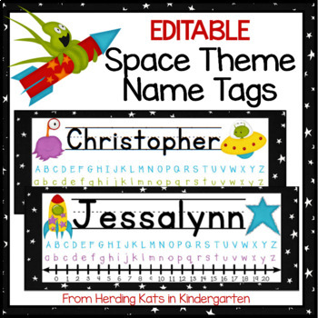 Outer Space Themed Nameplates
