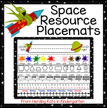 Outer Space Themed Placemat