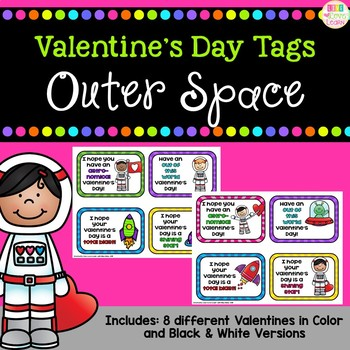 Outer Space Themed Valentines - Gift Tags
