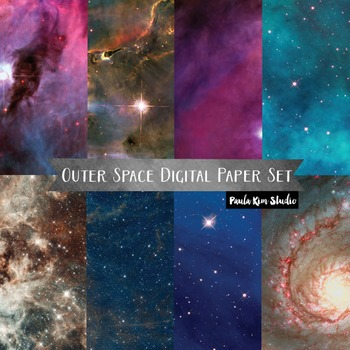 Outer Space Universe Digital Paper Set