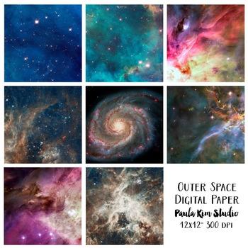 Outer Space Universe Digital Paper Set