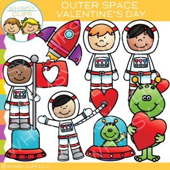Outer Space Valentine Clip Art