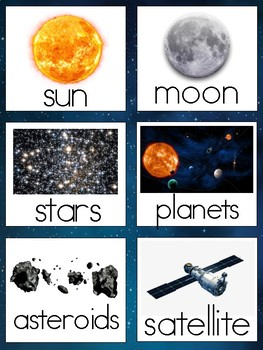 Outer Space-Vocabulary Cards