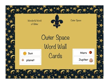 Outer Space Word Wall Cards