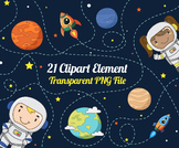 Outer Space and Planets Clipart Set.1