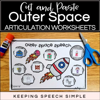 No Prep Articulation Worksheets - Outer Space Themed