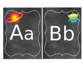 Outer space Theme Cursive Alphabet