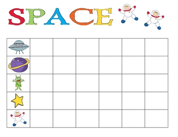 Outerspace Graphing Math Center