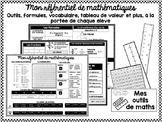 Outil référentiel FRENCH math reference sheets
