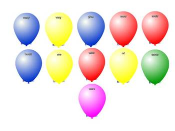 Outlaw Words Balloon Pop Game for the SmartBoard