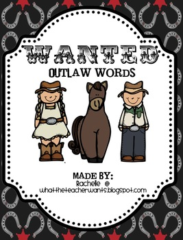 Outlaw Words Literacy Centers {with outlaw day}