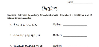 Outlier Identification Practice