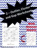 Outliers Clusters Gaps Worksheets (Two Worksheets)