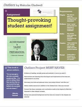 """""""Outliers"""" by Malcolm Gladwell: Writing Project Assessment"""