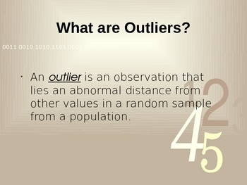 Outliers - Middle Grades Math