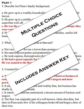 """Outliers: The Story of Success Chapter Five """"Joe Flom"""" 50 NO PREP pages"""