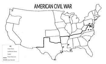Outline Civil War Map