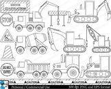 Outline Construction Digital Clip Art Graphics 15 images cod140