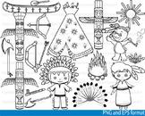 Outline Cowboy Clip Art hero western wild west school stamp coloring line -108-