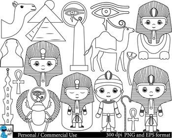 Outline Egypt Digital Clip Art Graphics 24 images cod133