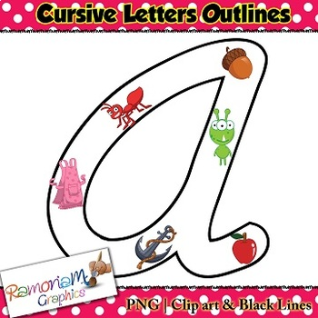 Cursive Font with transparent Centers