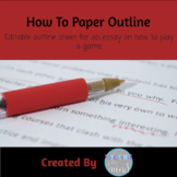 Outline Form for a How To Paper