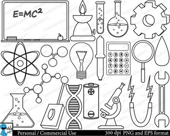 Outline Laboratory Digital Clip Art Graphics 32 images cod129