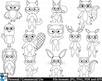 Outline Laboratory animals Set Clipart Instant download - 37 images cod215