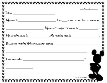 Outline Letter to a Character