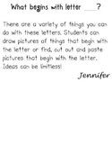Outline Letters for Literacy Centers