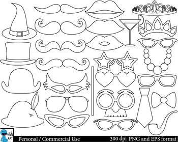 Outline Party booth props Clip Art 28 images cod139
