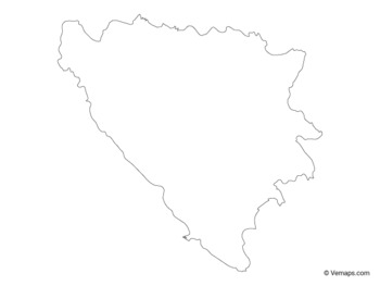 Outline Map of Bosnia and Herzegovina