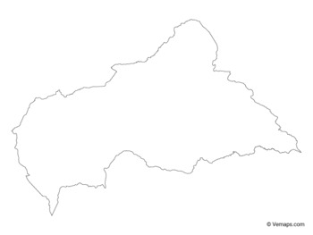 Outline Map of Central African Republic