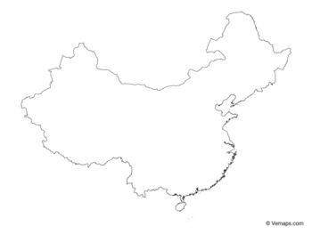 China Map Outline Printable