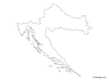 Outline Map of Croatia