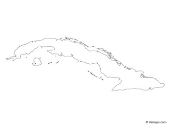 Outline Map of Cuba