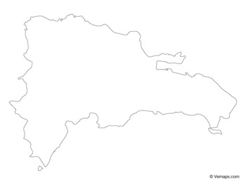 Outline Map of Dominican Republic