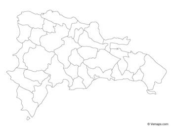 Blank Map Republica Dominicana
