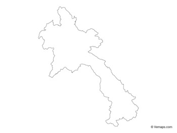 Outline Map of Laos