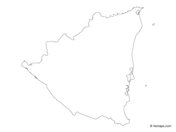 Outline Map of Nicaragua