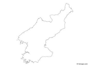 Outline Map of North Korea