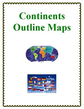 Outline Maps Study, Continents of the World