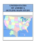 Outline Maps Study, United States of America