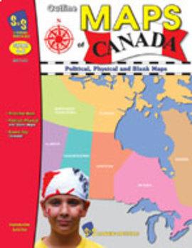 Outline Maps of Canada Grades 4-8