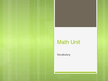 Outline Powerpoint Common Core Math unit