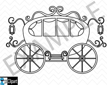 Outline Princess - Clip Art Digital Files Personal Commercial Use cod252